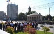 Circulatie inchisa in zona Palatului Culturii.