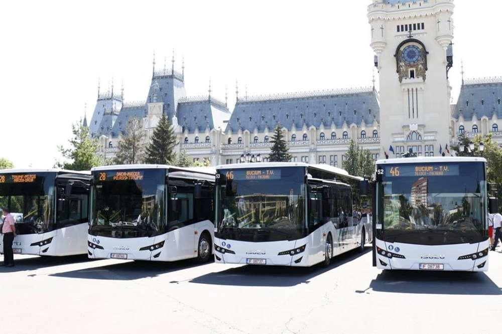 Ultimul lot de 11 autobuze noi a ajuns în depoul Companiei de Transport Public Iași