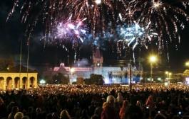 Revelion balcanic in Piata Palatului din Iasi