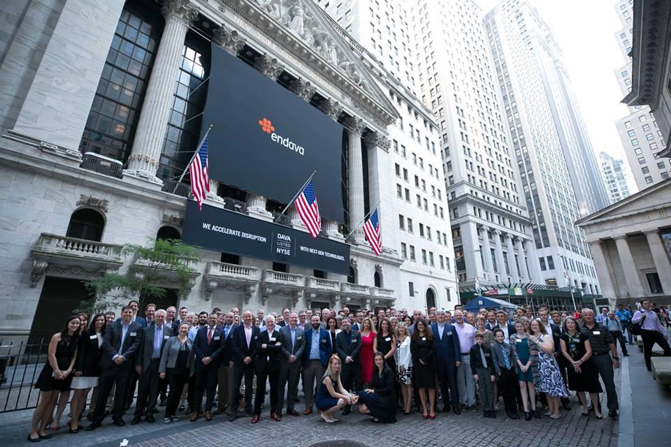 Endava s-a listat la Bursa din New York