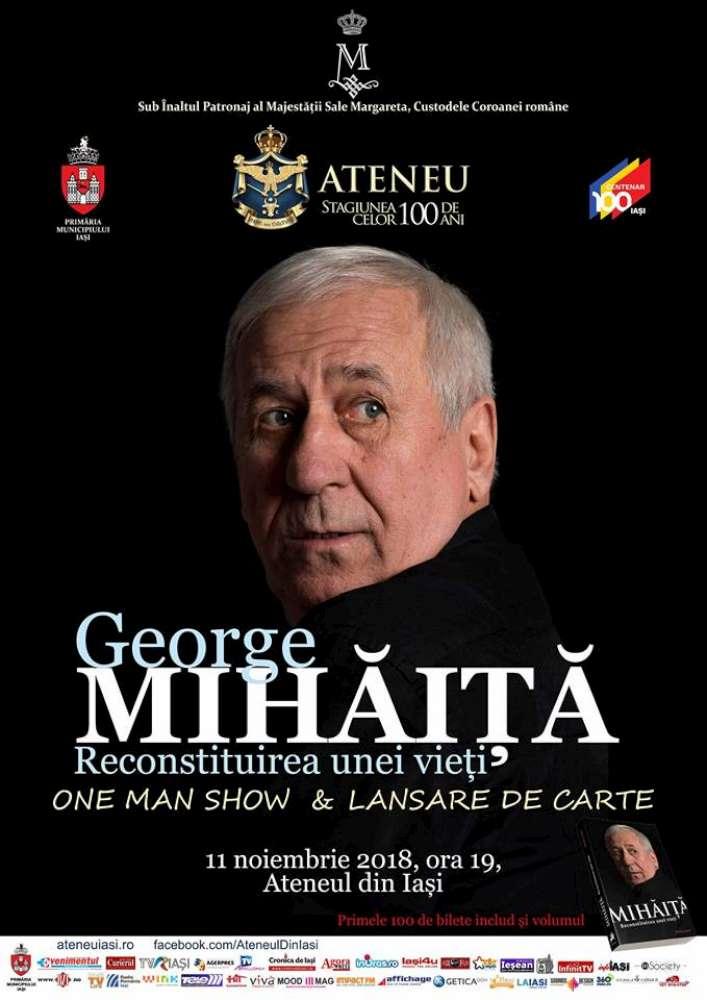 Actorul George Mihăiță, la Ateneul din Iasi
