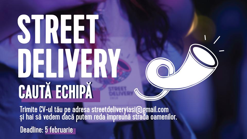 Street Delivery Iași, festivalul de arte urbane și arhitectură, caută voluntari