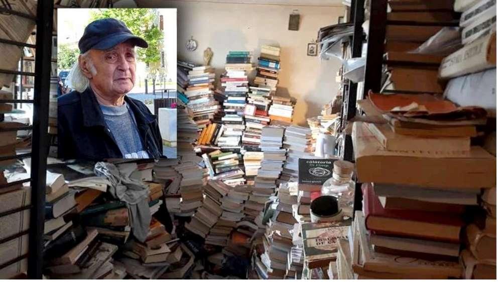 """Poetul Emil Brumaru trăia într-un mausoleu de cărți: """"Parcă era un copil căruia i-ai dat ceva nemaivăzut când primea o carte"""""""
