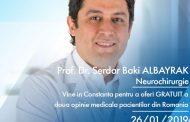 Șansă în plus pentru pacienții diagnosticați cu tumori cerebrale sau Parkinson. Celebrul neurochirurg turc Serdar Baki Albayrak oferă a doua opinie pacienților din România
