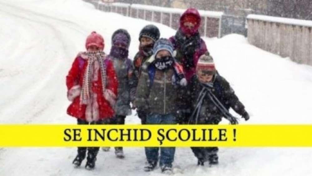 Gripa închide școlile. Elevii nu vor merge la școală vineri, 25 ianuarie 2019