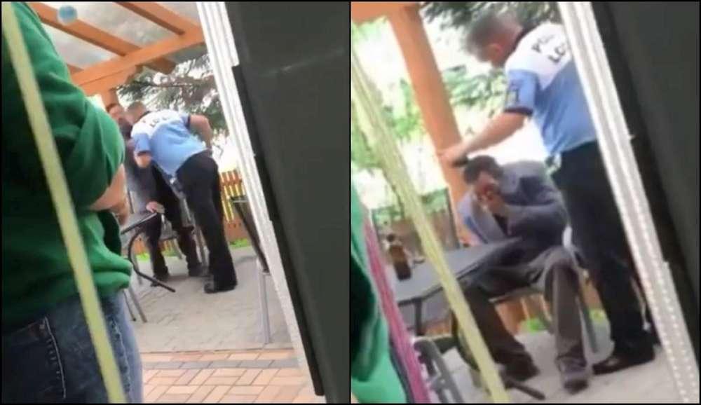 VIDEO. Un jeg de politist local loveste golaneste un om al strazii