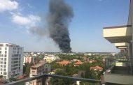 Incendiu puternic în nordul Capitalei, langa Aeroportul Baneasa