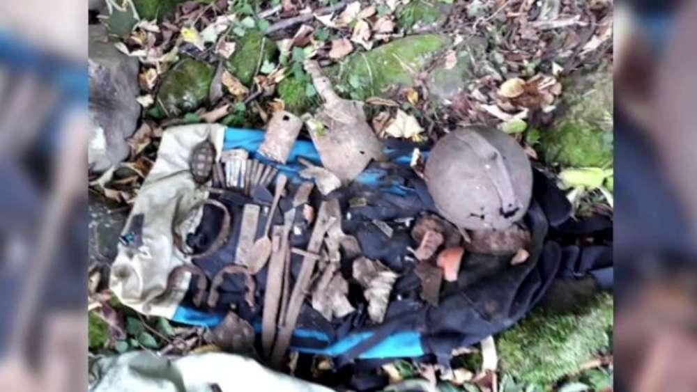 Ramasitele unui soldat din al Doilea Razboi Mondial, gasite cu detectorul de metale, in Bacau