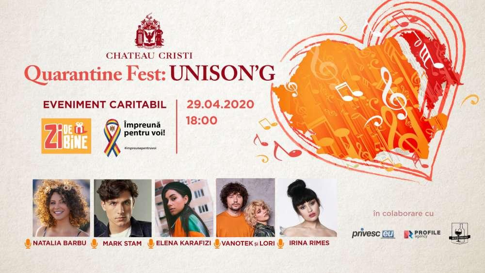 Quarantine Fest: UNISON'G – primul festival online de muzică ce trece Prutul