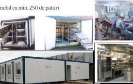 Spital mobil Covid-19 la Iași pentru Regiunea de Nord-Est. Investitia Iasului se ridica la 10 milioane euro