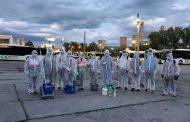 Peste 30.000 de ore de muncă pentru dezinfecția continuă a mijloacelor de transport din Iasi