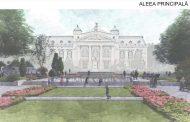 """FOTO. Modelul de amenajare peisagistica de la Palas, copiat """"la firul ierbii"""" pentru Esplanada de la Teatrul National din Iasi"""
