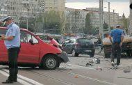 FOTO. Accident cu victime pe Pasajul Alexandru cel Bun