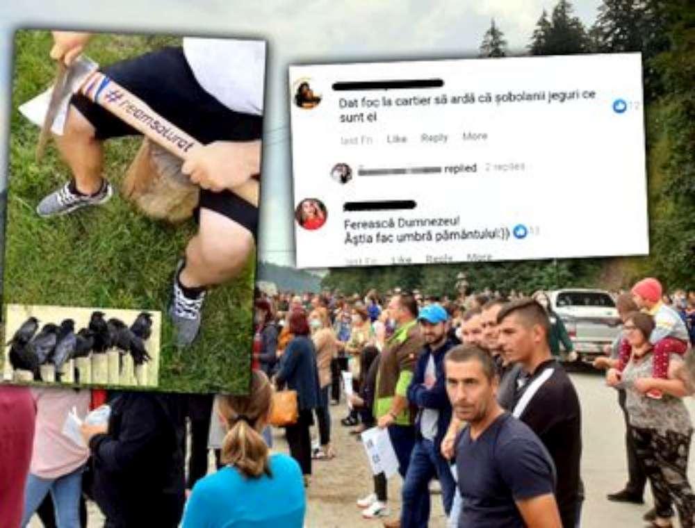 Românii dintr-un grup de Facebook propun expulzarea sau chiar incendierea romilor dintr-o comună din Neamț
