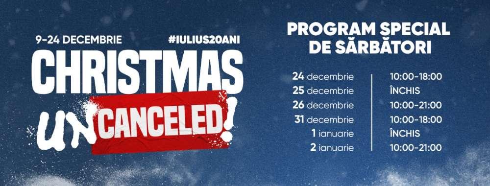Bucuria shoppingului rămâne aceeași!  Program special de Crăciun și de Revelion al magazinelor și restaurantelor din Palas și Iulius Mall Iași