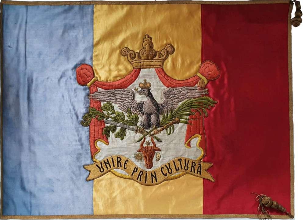 Drapelul istoric al Ateneului ieșean a fost recondiționat