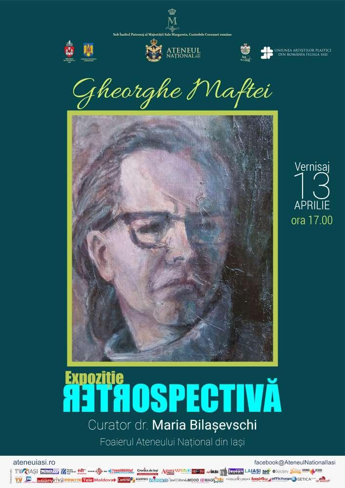 Expoziție retrospectivă – Gheorghe Maftei, la Ateneul National din Iasi