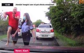 VIDEO. În Buzău, ca-n Vestul Sălbatic. Un bărbat a fost urmărit și bătut în trafic de trei indivizi, chiar sub ochii polițiștilor