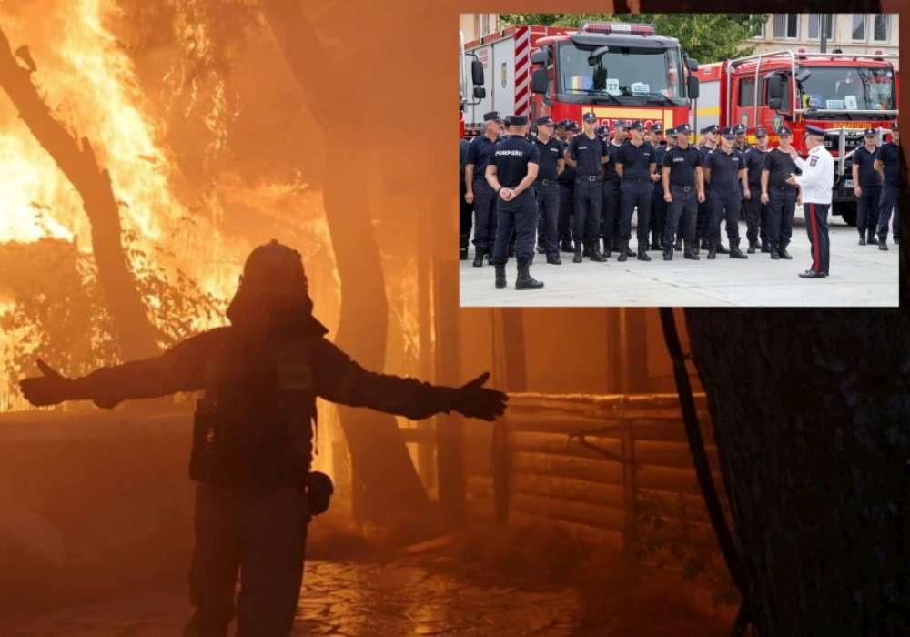 Pompierii români au început misiunile de stingere a incendiilor de pădure din Grecia!